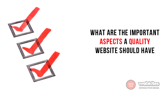 What are the important aspects a quality website should have?
