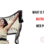 What is the use of matrimonial web portals?