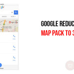 Google reduces  local map pack to 3