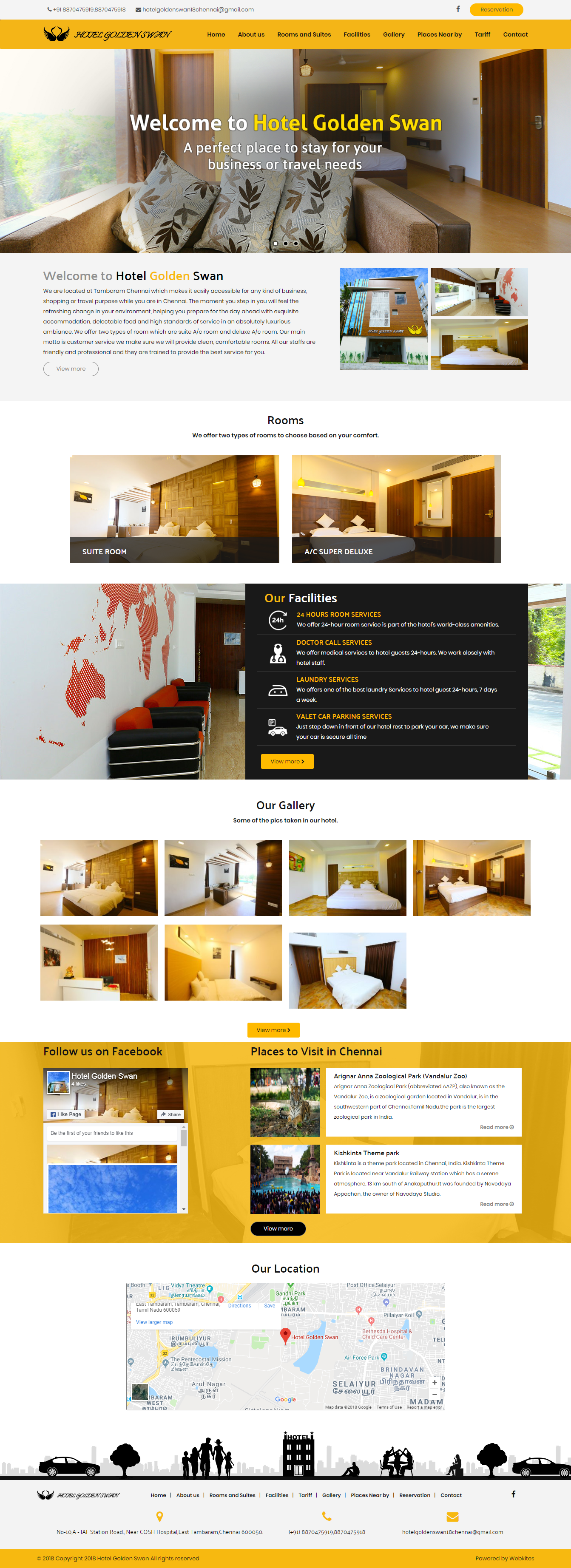Dynamic websites for hotelgoldenswanchennai