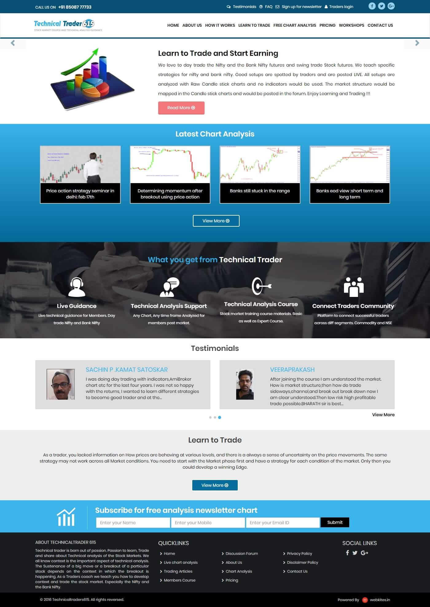 Dynamic Website for Technical Trader615
