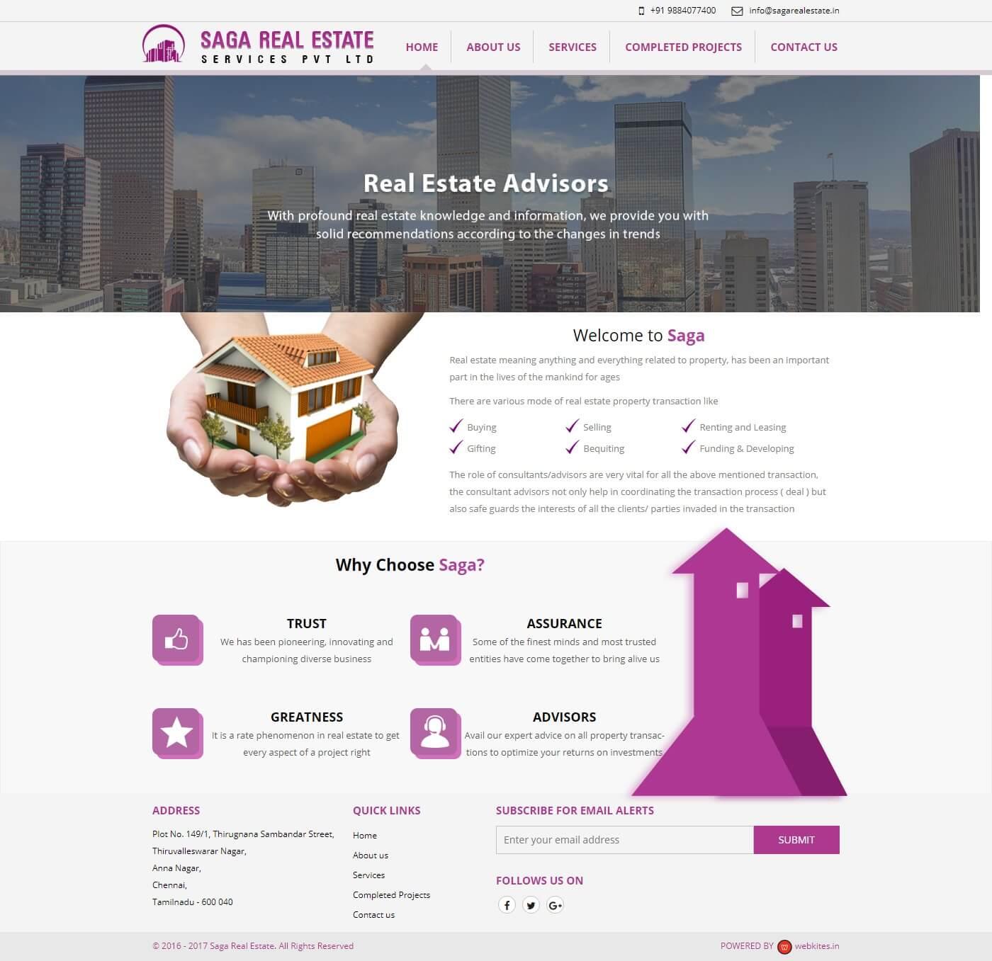 Static Website for Saga Real Estate