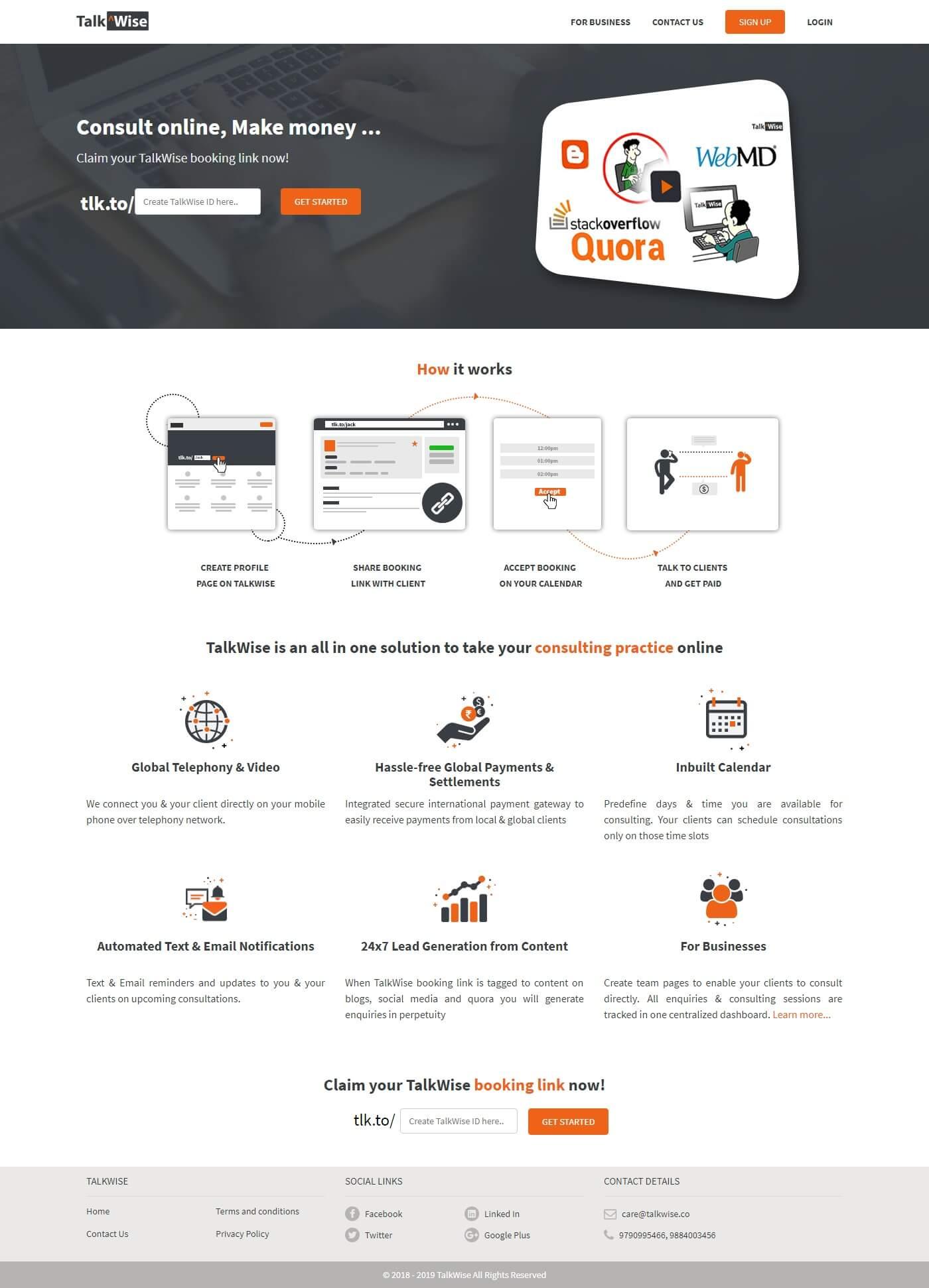 Dynamic Website for TalkWise