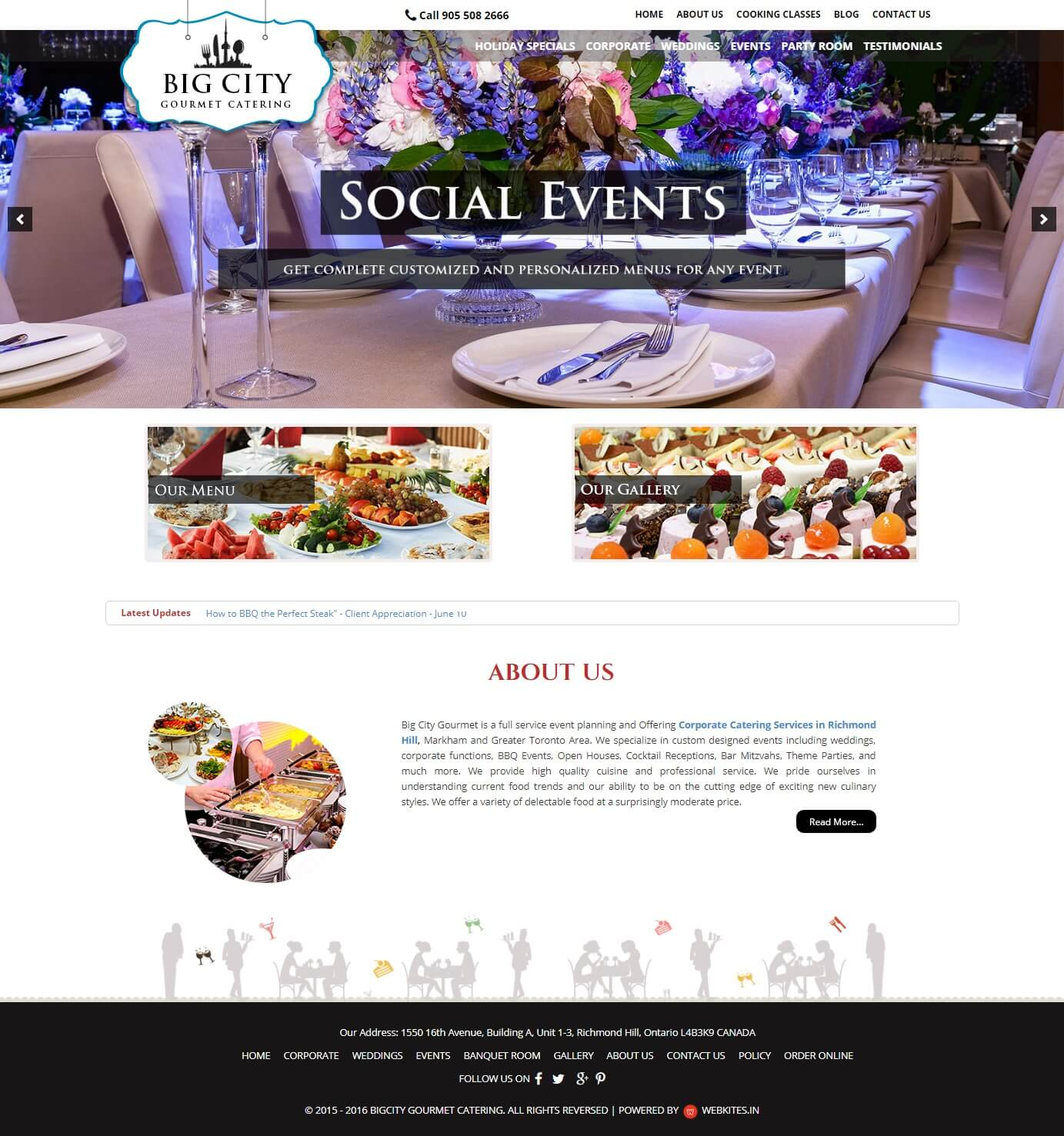 Wordpress webdesigning for Bigcity Gourmet Catering