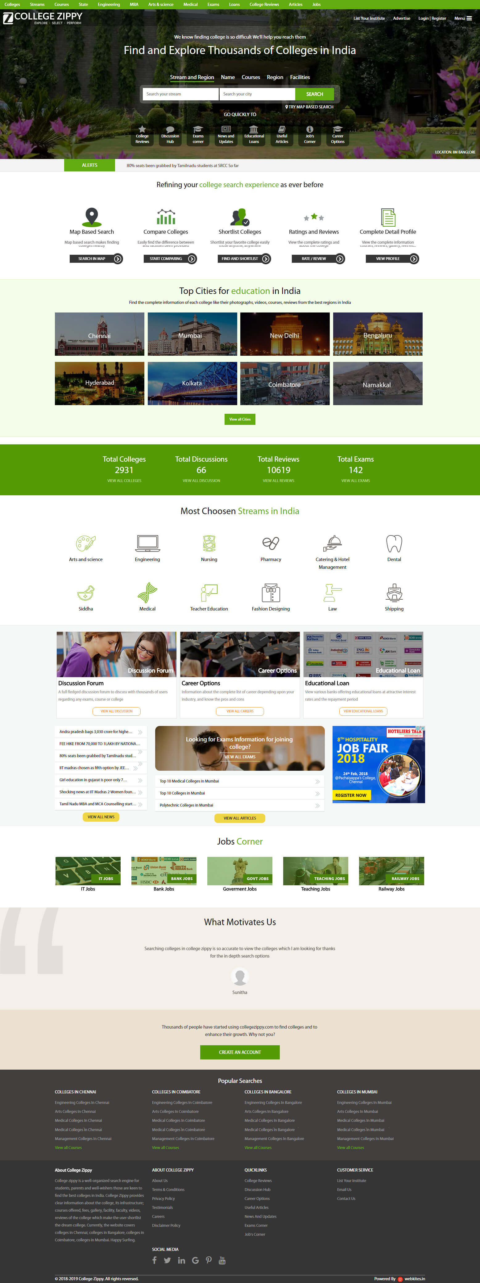 CollegeSignal website developed at web designing company in chennai